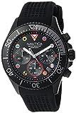 Nautica Herren analog Japanisch Quarz Uhr mit Silikon Armband NAPWPC003