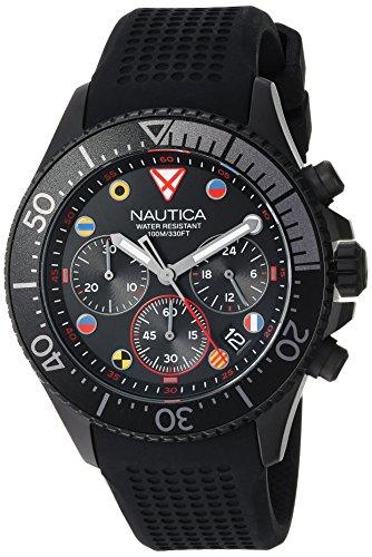 Nautica Reloj analógico para Hombres de Cuarzo japonés con Correa en Silicona NAPWPC003