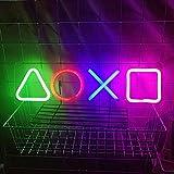 Icono Luces Playstation, Símbolo del Juego Letreros de Neón Iconos, Icons Light Playstation Neon Sign Juegos Luz de Neón LED para Oficina Bar Sala de Juegos Iluminación