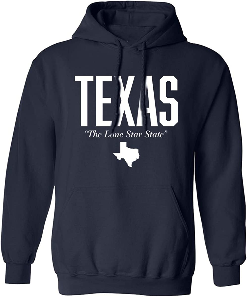 Texas The Lone Star State Adult Hooded Sweatshirt