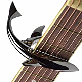 Shark Capo,Zinc Alloy Tone Clip for Acoustic,Folk,Electric Guitar and Ukulele (Black)