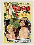 1art1 Tarzan Poster Kunstdruck und Kunststoff-Rahmen - Der