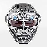D.O.T Certificado Casco de la Motocicleta del motocrós de la Cara Llena Casco Moto teléfono Abierto máscara de Casco, Iron Man Transformers - M, L, XL y Estilos,B,L