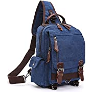 Backpack Purse, F-color Cross Body Bag Small Canvas Backpack for Women