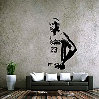 Lebron James Poster Wall Stickers of The Cavaliers Home Decoration Decal Vinyl Wall Stickers