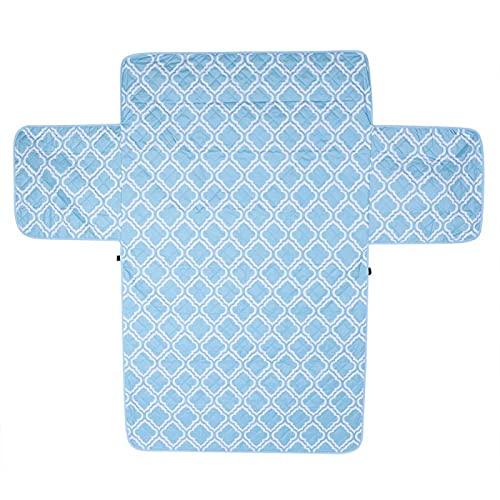 1 Juego de Funda de sofá Agradable para la Piel Tela Resistente al Desgaste Funda de Muebles cómoda para Sala de Estar para Dormitorio(Impresión Azul Claro)
