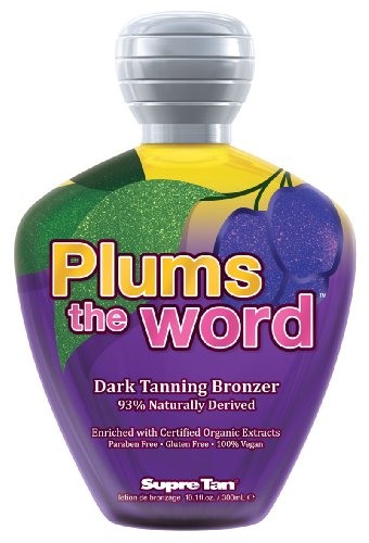 Supre PLUMS THE WORD Dark Bronzer Tanning Lotion 10.1 oz.