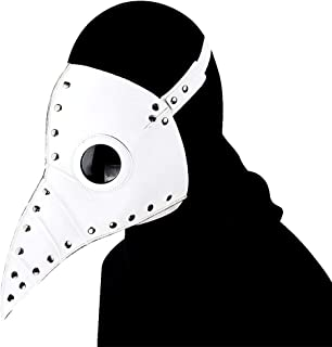 Woworld PU Leather Plague Doctor Mask Halloween Bird Mask Steampunk Costume Party Props