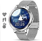 DOOK Smartwatch Reloj Inteligente para Mujer con Pulsómetros Monitor de Sueño,Podómetro,15 Modos...