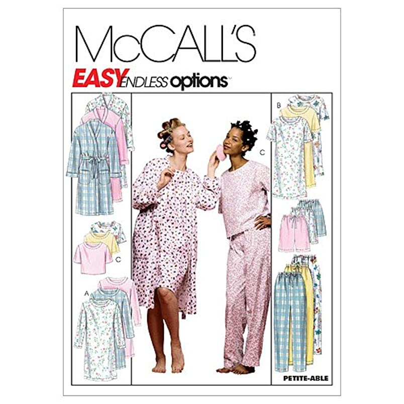 McCall's Patterns M2476 Misses' Robe, Nightgown Or Top and Pull-On Pants Or Shorts, Size Z (XLG-XXL) ir729482747