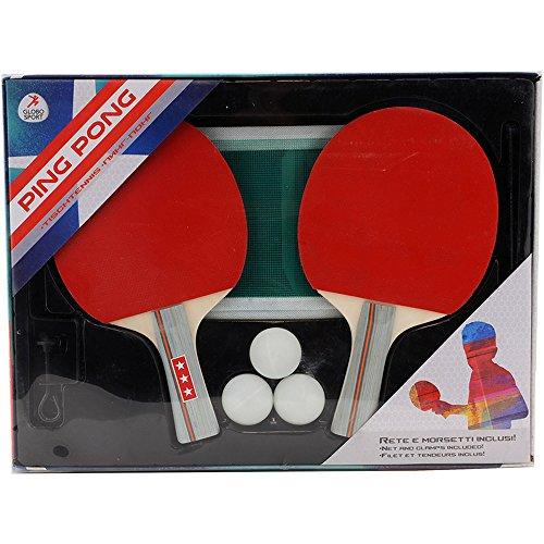 W'TOY - Kit Juego Ping Pong con 3 Pelotas