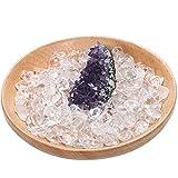 水晶 さざれ石 浄化 アメジストクラスター 浄化セット 天然石 さざれ アメジスト 浄化用 風水 玄関 置物 (アメジストクラスター x 水晶さざれ)