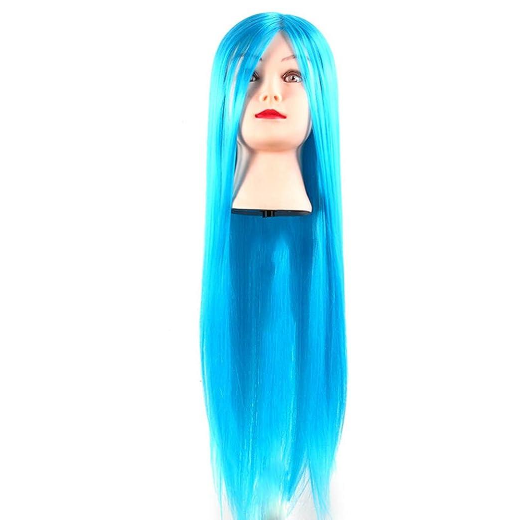 訴えるスリンク突然サロン散髪練習ヘッドモデルメイク学校編組髪開発学習モデルヘッドヘアストレートロングかつら