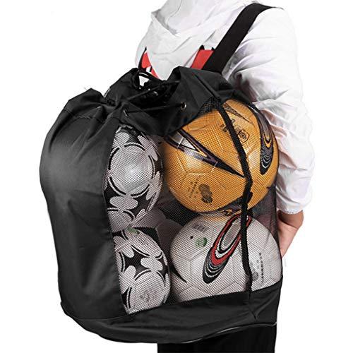 Bolsa de malla mediana para pelotas de equipo, bolsa de lona resistente, bolsa de balón, baloncesto, voleibol, fútbol, fútbol, balón, bolsa de almacenamiento con cordón para hasta 5 pelotas