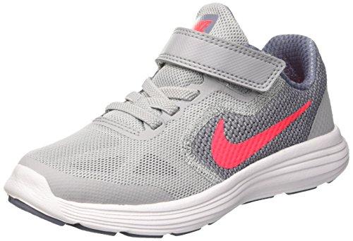 Nike Revolution 3 Gpv, Zapatillas de Running Niños, Gris (Wolf Grey/Solar Red/dk Sky Blue/White), 28 EU