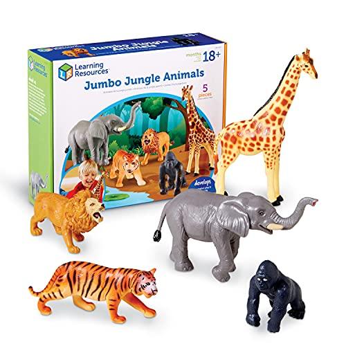 Learning Resources- Animali della Giungla Jumbo, Colore, LER0693