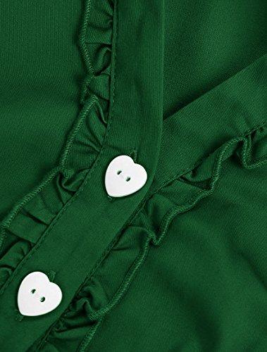 Wedtrend Women's 1950s Cap Sleeves Swing Vintage Party Dresses Multi Colored WTP10007ArmyGreenL