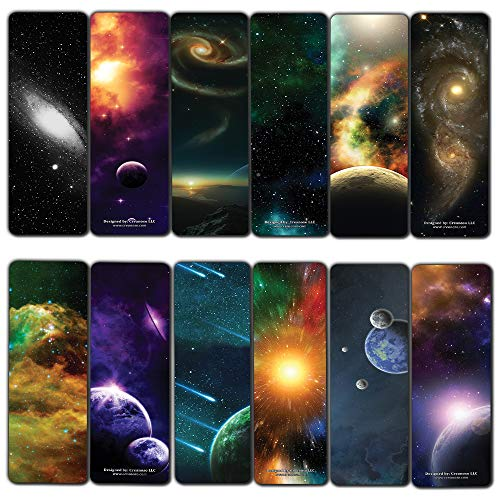 Creanoso Space and Galaxy Bookmarks Series 2 (60-Pack) - Stocking Stuffers Gift for Men & Women, Teens - Reading Incentives - Cool Planetary Bookmark Collection – Science Rewards Pack – Wall Decor
