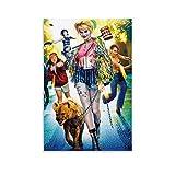 WUSOP Póster de Harley Quinn Birds of Prey 7620 de Harley Quinn Birds of Prey, póster artístico de pared, impresión moderna para habitación familiar, póster de 50 x 75 cm