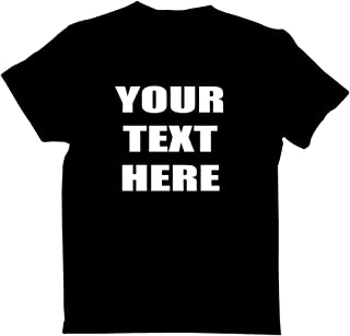 Round Neck Cotton Personalized TShirt with Your Own Text