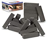 Miracle Eraser Strip 'N Sand Paint Remover - Non Toxic, Chemical-Free Paint Stripper - Sanding Stripping Blocks for Wood and Metal - Lift Off and Remove Paint and Rust from Furniture and DIY Projects