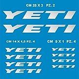 Adesivi Bici Yeti_Kit 1_ Kit Adesivi Stickers 10 Pezzi -Scegli SUBITO Colore- Bike Cycle pegatina cod.0905 (090 Argento)