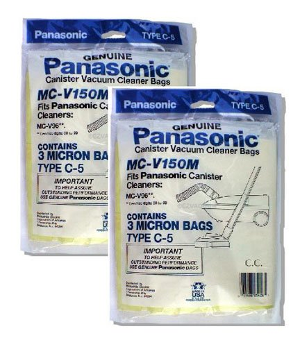 Panasonic MC-V150M 3-Bags Of Replacement Vacuum Bags Fits Panasonic Canister Vacuum Cleaner Models...