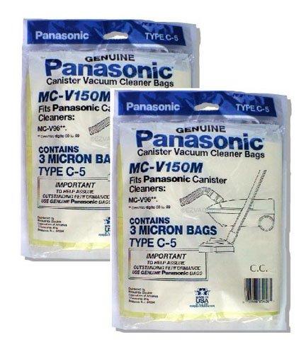 Panasonic MC-V150M 3-Bags Of Replacement Vacuum Bags Fits Panasonic Canister Vacuum Cleaner Models (2-Pack)