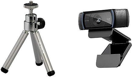 Logitech C920 HD Pro Webcam, Videochiamate e Registrazione Full HD 1080p con 2 Microfoni con Audio S + Cullmann Alpha 15 Mini Treppiede, Grigio - Trova i prezzi più bassi