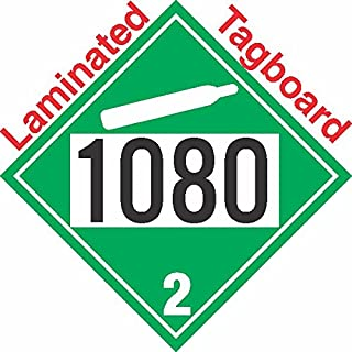 GC Labels-T305c1080, Non-Flammable Gas Class 2.2 UN1080 Tagboard DOT Placard, Package of 50 Placards