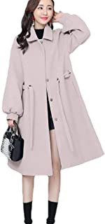 Howely Women Winter Elegant Relaxed Poncho Single Button Overcoat Closure Coat