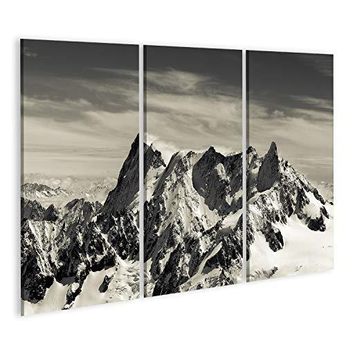 islandburner, Cuadro Cuadros Mont Blanc en los Alpes franceses Impresión Lienzo Formato Grande Cuadros Modernos QLU