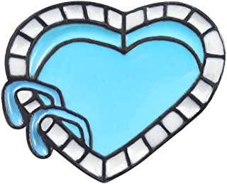 Oce180anYLV Creativo Spilla Pin Cartoon Smalto Amore Cuore Piscina Distintivo Collare Bavero Spilla Pin Gioielli