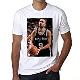 One in the City Tony Parker Basketball T-Shirt,Cadeau,Homme,Blanc, XXL,t Shirt Homme