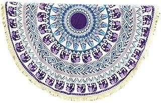 c9a26d1261eb3 HLIYY-Serviettes De Plage Ronde Plage Bikini Indien Mandala Franges Grande  Taille Épaisse, Tapisserie