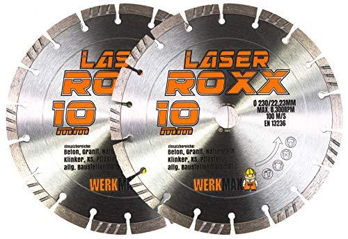 2er-SET | Neuentwicklung: Laser ROXX Diamantscheibe 230 mm | universal