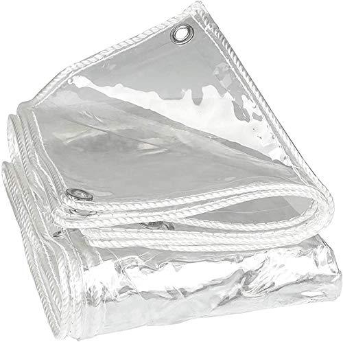MY1MEY Transparente Lona De Protección,Exterior Jardín Patio Impermeables Protector Solar Tela Refugios Pergola,Prueba de Lluvia Cortina con Ojal,0.3mm Cubiertas Toldos(1.5 * 9m(4.9 * 29.5ft))