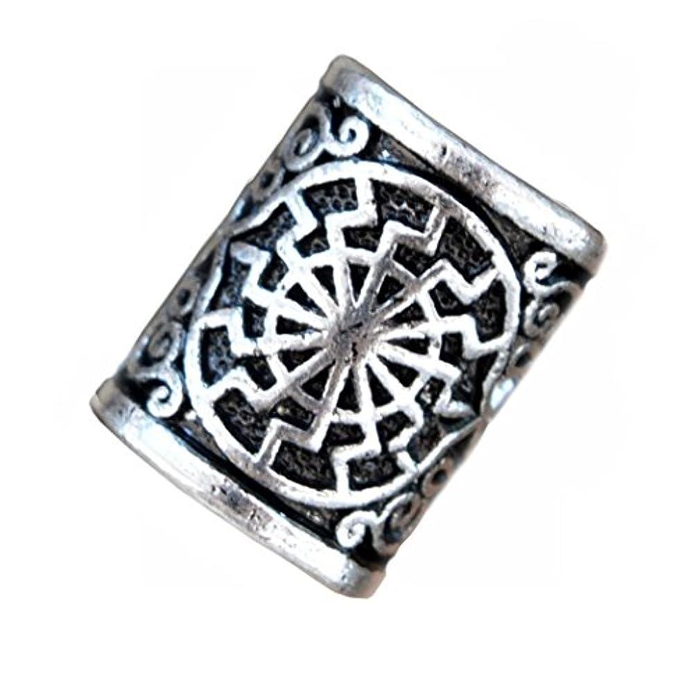 5pcs Norse Viking Rune Sonnenrad Beads for Pendant Bracelet for Hair Beards Maiking