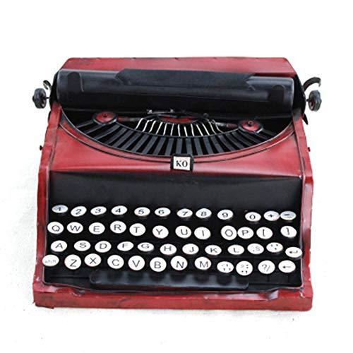 mechanische Schreibmaschine Modell Retro Schmiedeeisen Desktop-Dekoration Modell Raumdekoration Requisiten schießen - rot