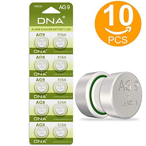 Dna 10 Batterien AG9 l936 394 Lr45 1,5 V (Packung mit 10)