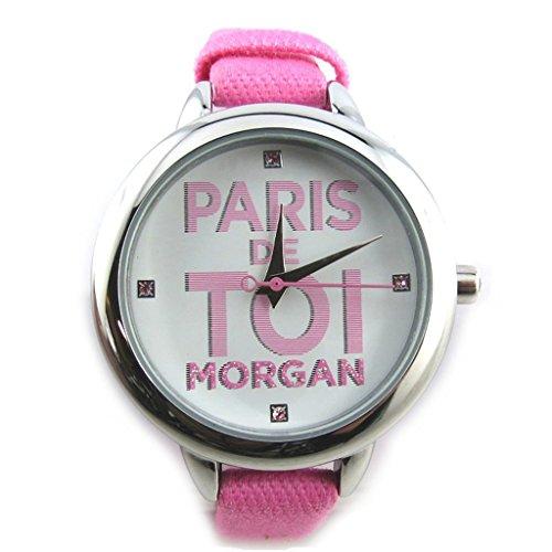 Morgan [N2364] - Orologio da polso 'french touch' 'Morgan' rosa argentato (parigi voi).