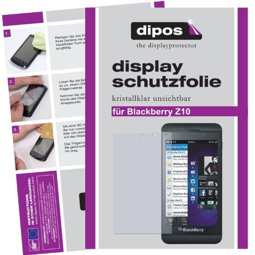 dipos I 2x Schutzfolie klar passend für Blackberry Z10 Folie Displayschutzfolie
