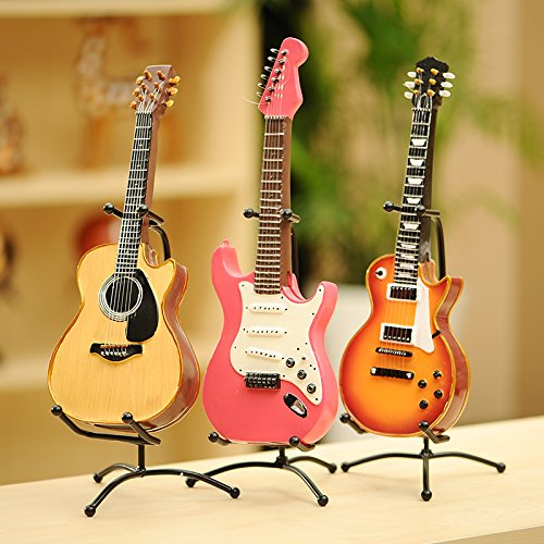 Decorationbd Beautiful Guitar Decoration Photography Props Romantic Gift Home Furnishing Decorative Furnishings Jewelry,Three in One (Three Sets) (N23)