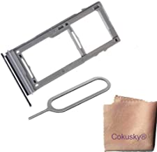 Cokusky SIM Card Frame Tray Cover Compatible with Samsung Galaxy S9 G960 S9 Plus G965+Sim Card Remover Eject Pin Key Tool (Gray)