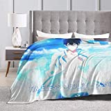 Engshi Wohn Kuscheldecken Free! Timeless Medley - Bond - Haruka Nanase Anime Warm Soft Novelty Ultra-Soft Micro Fleece Throw Blanket for Living Room/Bedroom 50'x40'