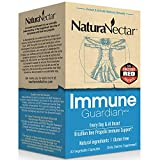 NaturaNectar Immune Guardian, Natural Immune Support Supplement with Bee Propolis, High Concentration Broad Spectrum Flavonoids & Antioxidants, Brazilian Propolis Vegetable Capsules, 30 Count