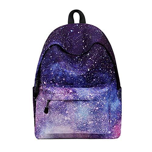 AHJSN Casual Geometric Galaxy Pattern School Bag Mochila para Mujer y niña Mochila Bolsa de Compras de Viaje 40 * 30 * 17 cm Estilo-1