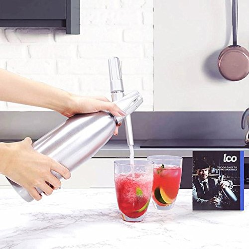 Impeccable Culinary Objects (ICO) 10 units Co2 Soda Chargers for Soda Siphons, 8g, Silver