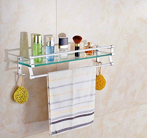 MBYW moderne minimalistische hoge dragende handdoek rek badkamer handdoekenrek Rack badkamer plank roestvrij staal badkamer plank badkamer handdoekrek Geschikt voor badkamer, slaapkamer, keuken