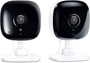 Kasa Spot Indoor Camera, 1080P HD Smart Wifi Security Camera (2-Pack) Night Vision, Motion Detection, Works with Google Assistant and Alexa (KC100P2)